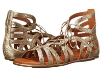 Gentle Souls Break My Heart 3 Gold Leather Women's Sandals