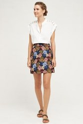 Anthropologie Kai Mini Skirt Blue Motif