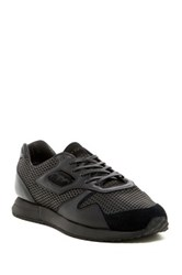 Pony Mesh Suede Calf Hair Panel Laced Sneaker Black