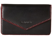 Lodis Audrey Maya Card Case Black Red Credit Card Wallet