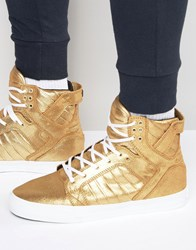 Supra Skytop Trainers Gold