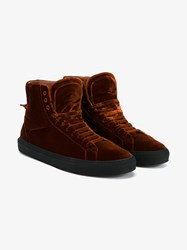 Givenchy Velvet High Top Sneakers Copper Black Off White