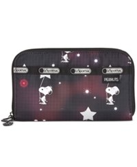 Le Sport Sac Lesportsac Peanuts Collection Lily Wallet Snoopy In The Stars