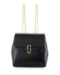 J Marc Leather Chain Strap Backpack Black Marc Jacobs