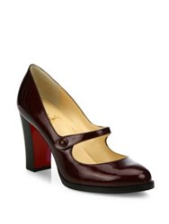 Christian Louboutin Patent Leather Mary Jane Pumps Orthodox Red
