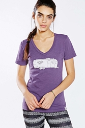 United By Blue Airstream Tee Dark Purple