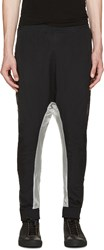 11 By Boris Bidjan Saberi White And Black Technical Harem Pants