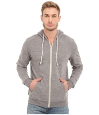 Threads 4 Thought Triblend Zip Front Hoodie Heather Grey Men's Sweatshirt Gray