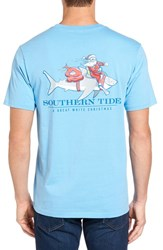 Southern Tide Men's Great White Christmas Graphic T Shirt