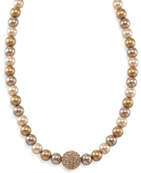 Carolee Necklace Gold Glass Pearl And Fireball
