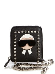 Fendi Karlito Wallet On Chain Black Multi
