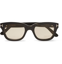 Tom Ford D Frame Horn Optical Glasses Black