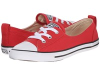 Converse Chuck Taylor All Star Fashion Basics Ballet Lace Brake Light Black White Women's Lace Up Casual Shoes Red