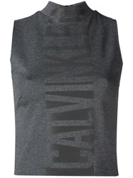 Calvin Klein Jeans High Neck Tank Top Grey