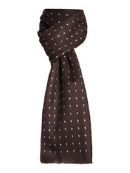 New And Lingwood Polka Dot Formal Scarf Black
