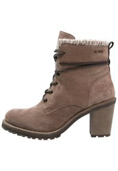 Tom Tailor Laceup Boots Sand