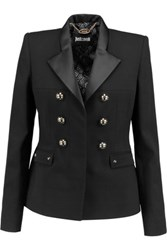 Just Cavalli Embellished Crepe Blazer Black