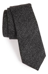 Alexander Olch Men's Herringbone Wool Tie Grey