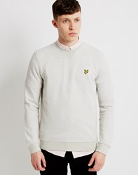 Lyle And Scott Twill Look Crew Neck Sweatshirt Grey