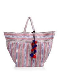 Jadetribe Woven Ikat Tote Red Multi