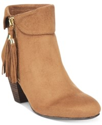 Report Moriah Tassled Ankle Booties Women's Shoes Tan