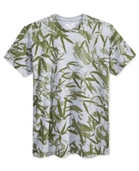 Univibe Men's Bamboo Leaf Graphic Print T Shirt Heather Grey