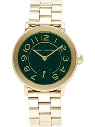 Marc Jacobs Riley 36Mm Green Dial Stainless Steel Watch Gold