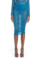 Women's Missguided Sheer Lace Midi Skirt