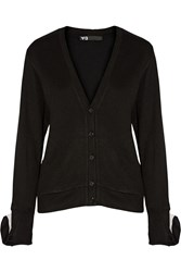 Y 3 Convertible Stretch Knit Cardigan Black