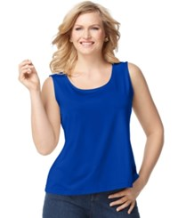 Charter Club Plus Size Tank Top Modern Blue