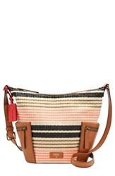 Fossil 'Small Emerson' Stripe Woven Hobo