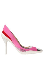 Moschino 100Mm Metallic And Patent Leather Pumps