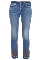 True Religion Cora Straight Leg Jeans Gypset Blue Blue Denim