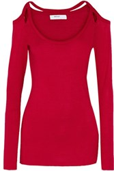 Bailey 44 Monarch Cutout Jersey Top Red