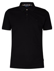 Aquascutum London Hilton Cotton Polo Shirt Black