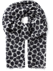 Woolrich Animal Print Scarf Black