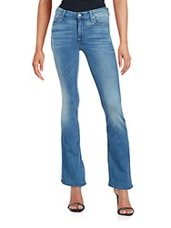 7 For All Mankind Faded Flared Jeans Salt Spray