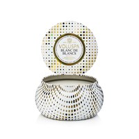 Voluspa Maison Holiday 2 Wick Candle In Tin Blanc De Blancs