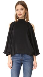 Emerson Thorpe Mali Silk Top Black