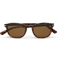 Persol Square Frame Tortoiseshell Acetate Polarised Sunglasses Brown