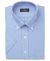 Club Room Men's Easy Care Pink And Blue Stripe Short Sleeve Dress Shirt Only At Macy's