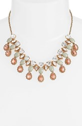 Marchesa Women's 'Sunrise' Frontal Crystal Collar Necklace