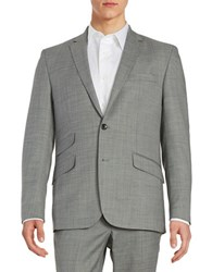Kenneth Cole Wool Blend Two Button Jacket Grey