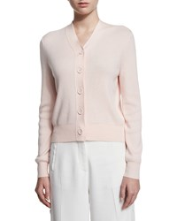 Acne Studios Long Sleeve Button Front Cardigan Porcelain Pink Women's