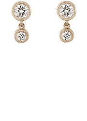 Tate Women's Diamond Double Drop Earrings White No Color White No Color