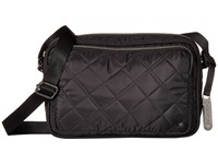Le Sport Sac City Crosby Crossbody Phantom Black Quilted Cross Body Handbags