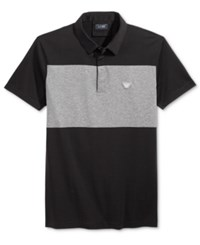 Armani Jeans Men's Polo Solid Blac