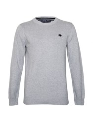 Raging Bull Plain Crew Neck Pull Over Jumper Grey