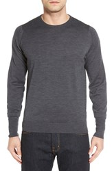 John Smedley Men's 'Marcus' Easy Fit Crewneck Wool Sweater Charcoal