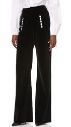 Holly Fulton Velvet Trousers Black White